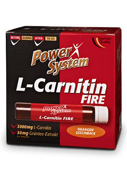 Power System L-Carnitin Fire 3000mg в ампулах (20х25мл)