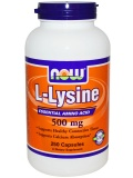 NOW L-Lysine 500mg (100 табл)